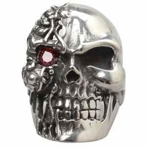 Double Face Skull Ring