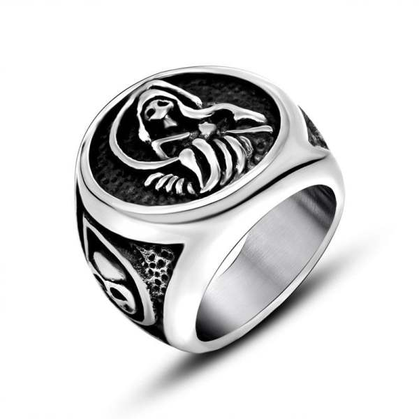 Grim Reaper Signet Ring