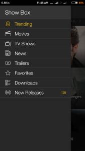 showbox premium categories