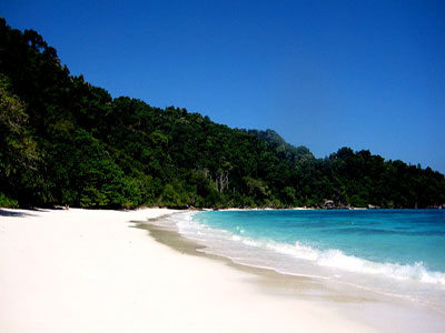View of the Similan Islands from the beach