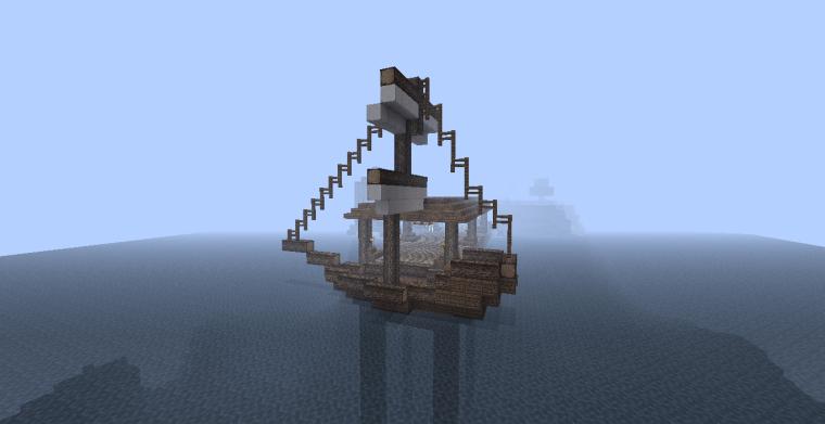 PirateCraft - Minecraft pirate ship schooner dhow