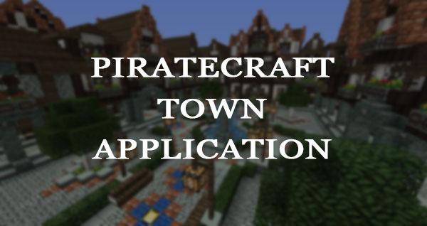 PirateCraft - minecraft pirate town application form