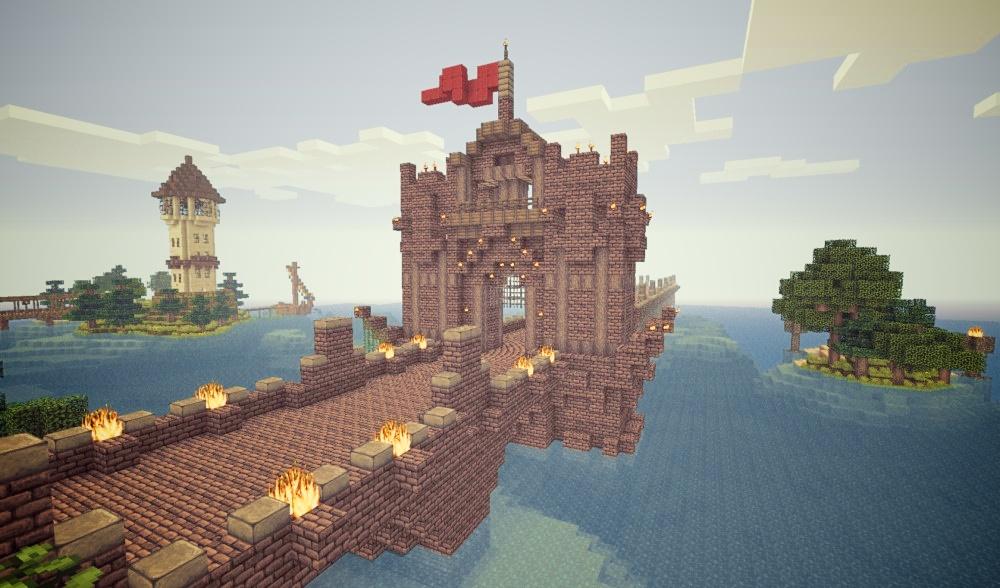 Minecraft Working Retractable Bridges On PirateCraft