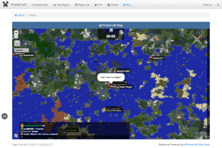 Minecraft Web Stats - Map