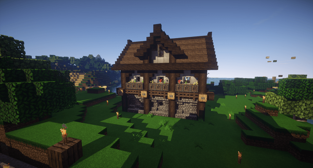 A medieval house in Minecraft