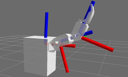 RViz 3D URDF bioloid arm