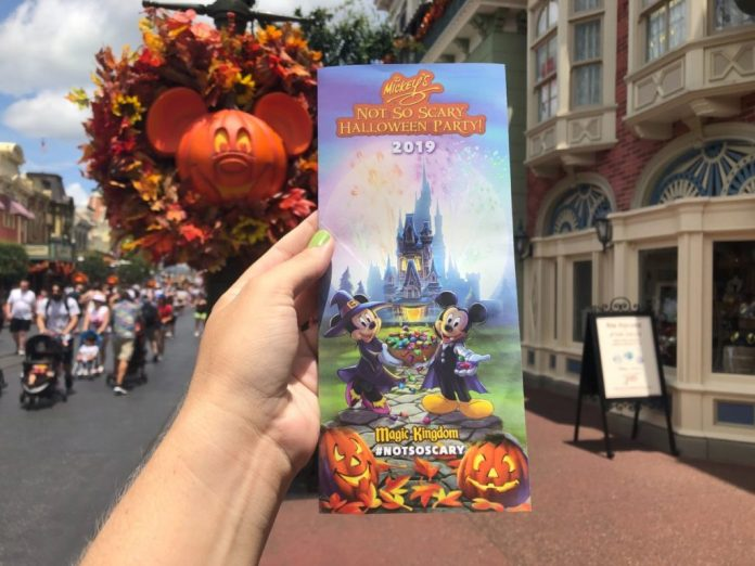 2019 Mickey/'s Not So Scary Halloween Party Walt Disney World Event Map