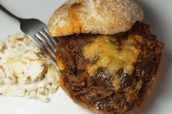 Pulled-pork sandwich