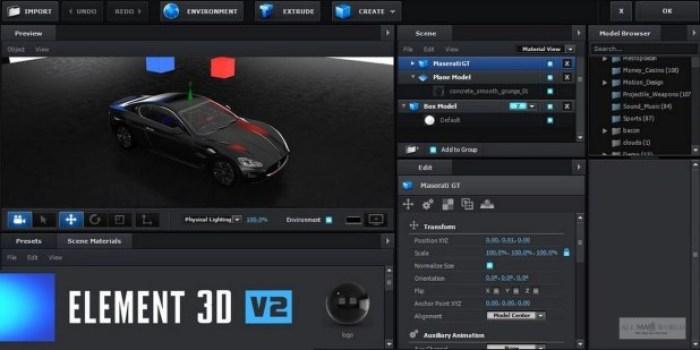 Video Copilot Element 3D v2.2.2.2168 Crack Latest Update 2020