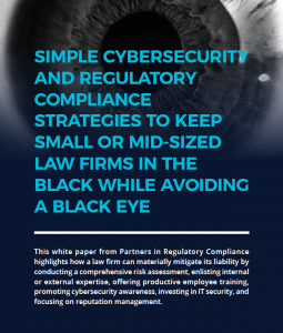 A picture of a law firm cybersecurity whitepaper