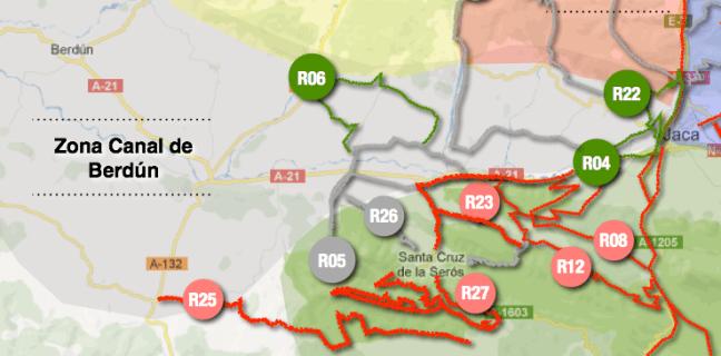Mapa de rutas Zona Berdún