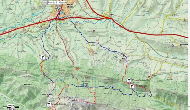 Mapa General Senderos Oroel