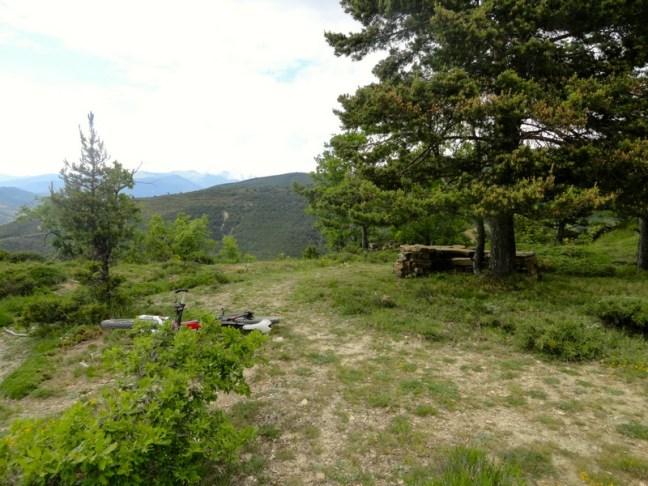 Zona de descanso en el sendero hacia Ipas
