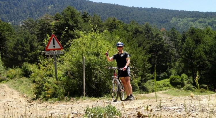 Autofoto en el punto más alto de la ruta, cruce con la subida a la punta de la Selva