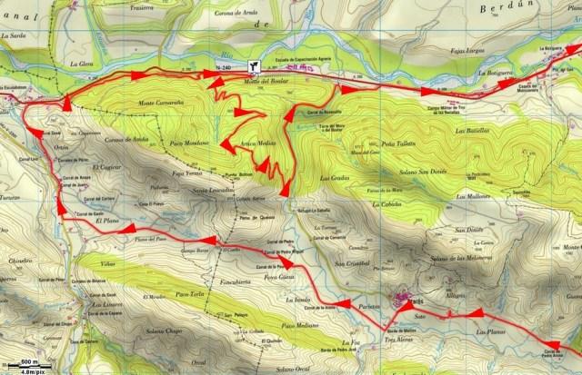 Mapa detalle Punta Batosa