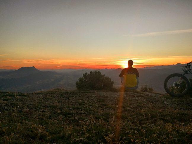 Foto 16.- Relax, ante una puesta de sol