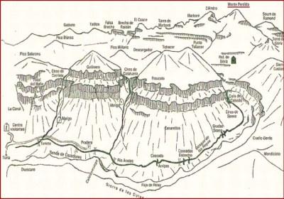 mapa en relieve del valle de ordesa