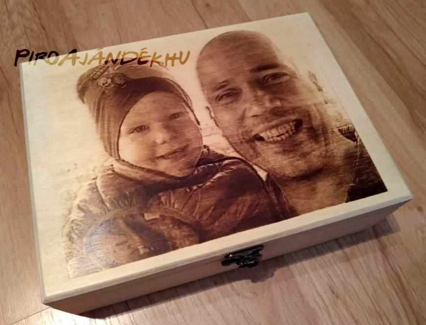 Égetett egyedi fényképes doboz