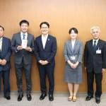 金沢市役所へ表敬訪問