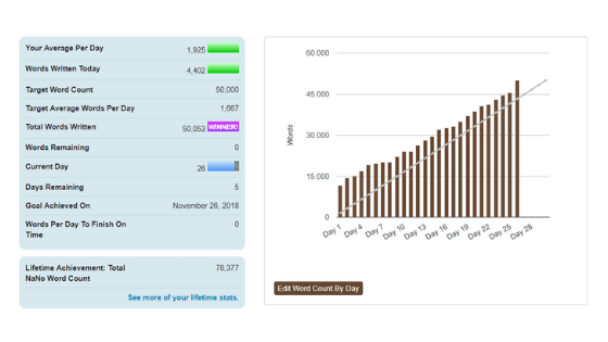 PirraSmith - stats finales nanowrimo