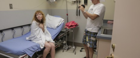 Director Pirro and actress Stef Dawson make the best out of a bad situation by adding production value to the film.  Stef was actually in a real Emergency Room being treated for a Stingray sting that happened earlier in the day.
