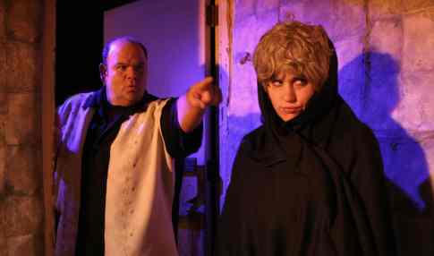 "Suzanna as Noah's wife, ""Yessah"" with Gust Alexander in ""The God Complex."""