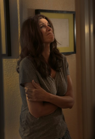 Louise Sutton (Tammy Klein) is not having a great day in this disturbing scene from Rage of Innocence.