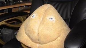 "sponge Rectuma prop from Pirromount's ""Rectuma""."