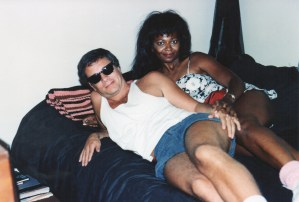 Director Mark Pirro and Actress Darwyn Carson in bed
