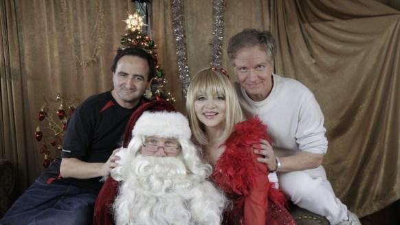 Cinematographer Bruce Heinsius, Richard Sebastian as Santa, Legendary comedienne Judy Tenuta, and Director Mark Pirro on set