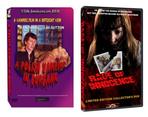"""3D video boxes for Pirromount's """"A Polish Vampire in Burbank"""" and """"Rage of Innocence."""""""