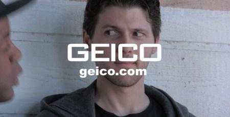 still from Pirromount's Geico parody commercial