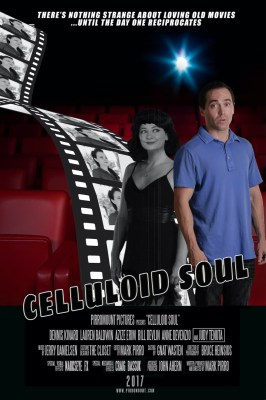 "Lauren Baldwin and Dennis Kinard in Mark Pirro's 2017 movie ""Celluloid Soul."""