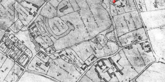 "1811 Pre enclosure plan made by the surveyors before the ""great land swop"" at enclosure"