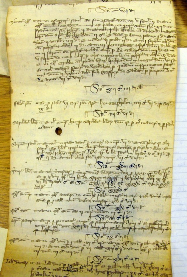 Court roll of the Manor of Pirton
