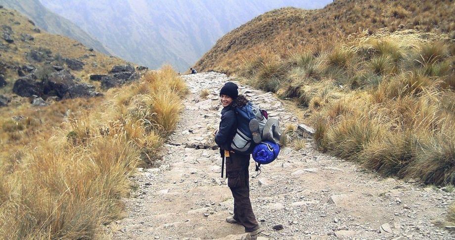 Mochilera en Peru