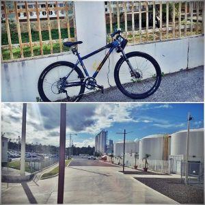 """""""Done!"""" en bicicleta al trabajo."""