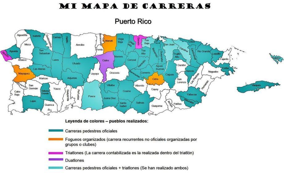 Running map Puerto Rico