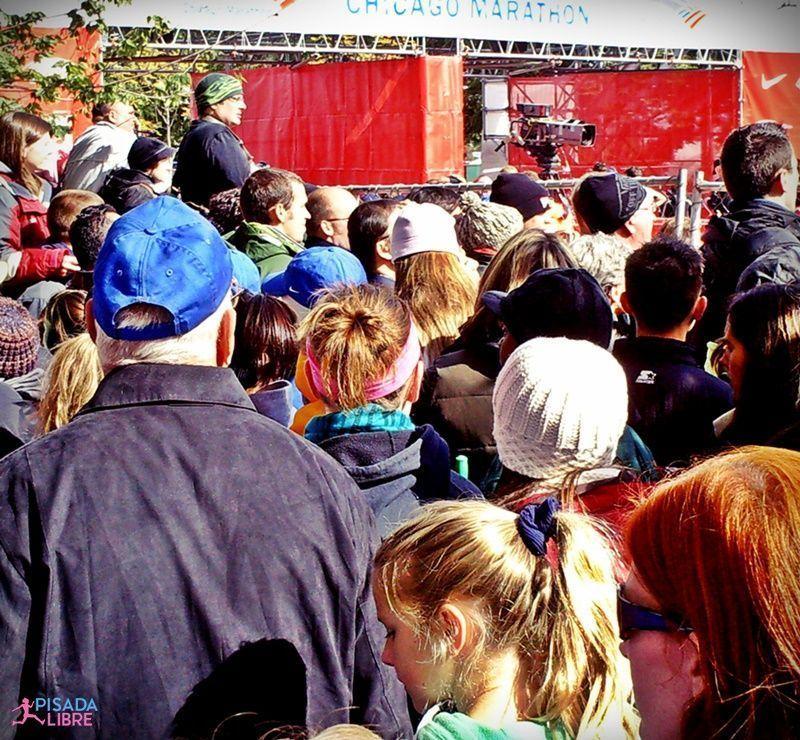 Público en maratón Chicago
