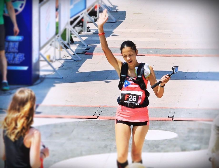 Great Wall Marathon llegada