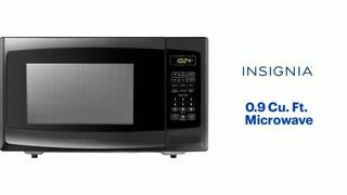 insignia 0 9 cu ft microwave black