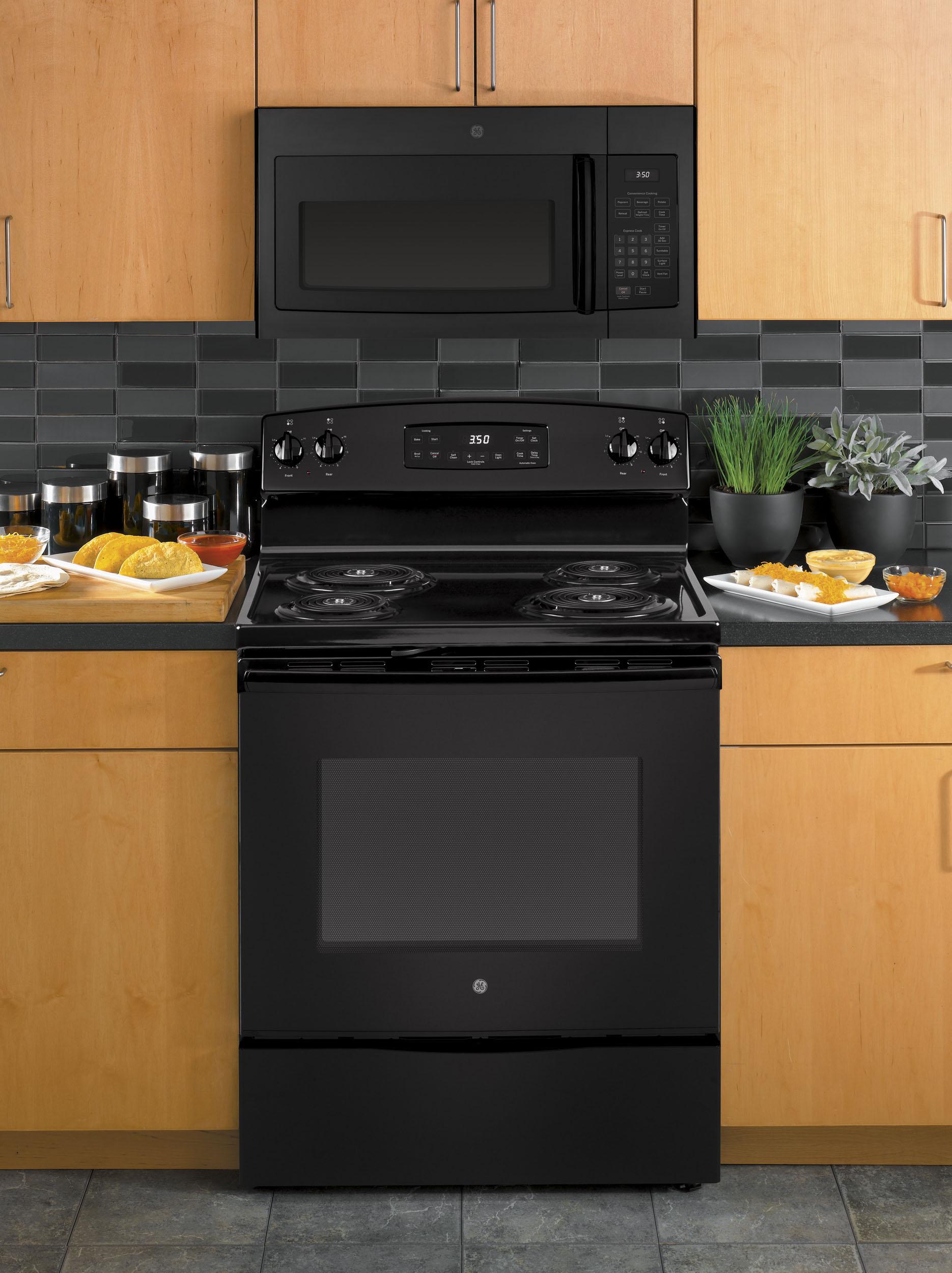 ge 1 6 cu ft over the range microwave black