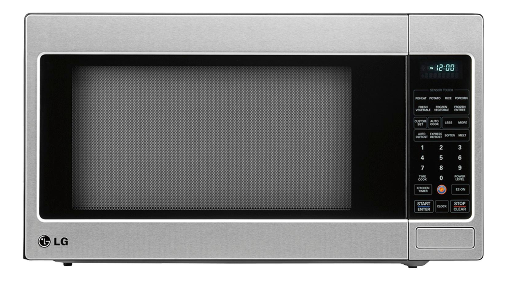 lg 2 0 cu ft full size microwave stainless steel