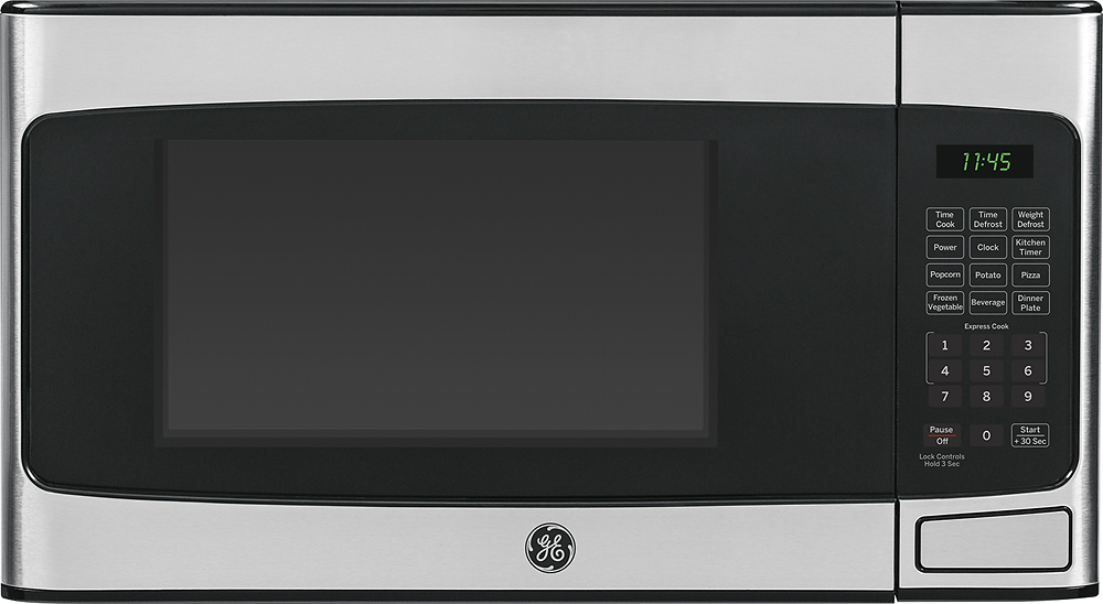 ge 1 1 cu ft mid size microwave stainless steel