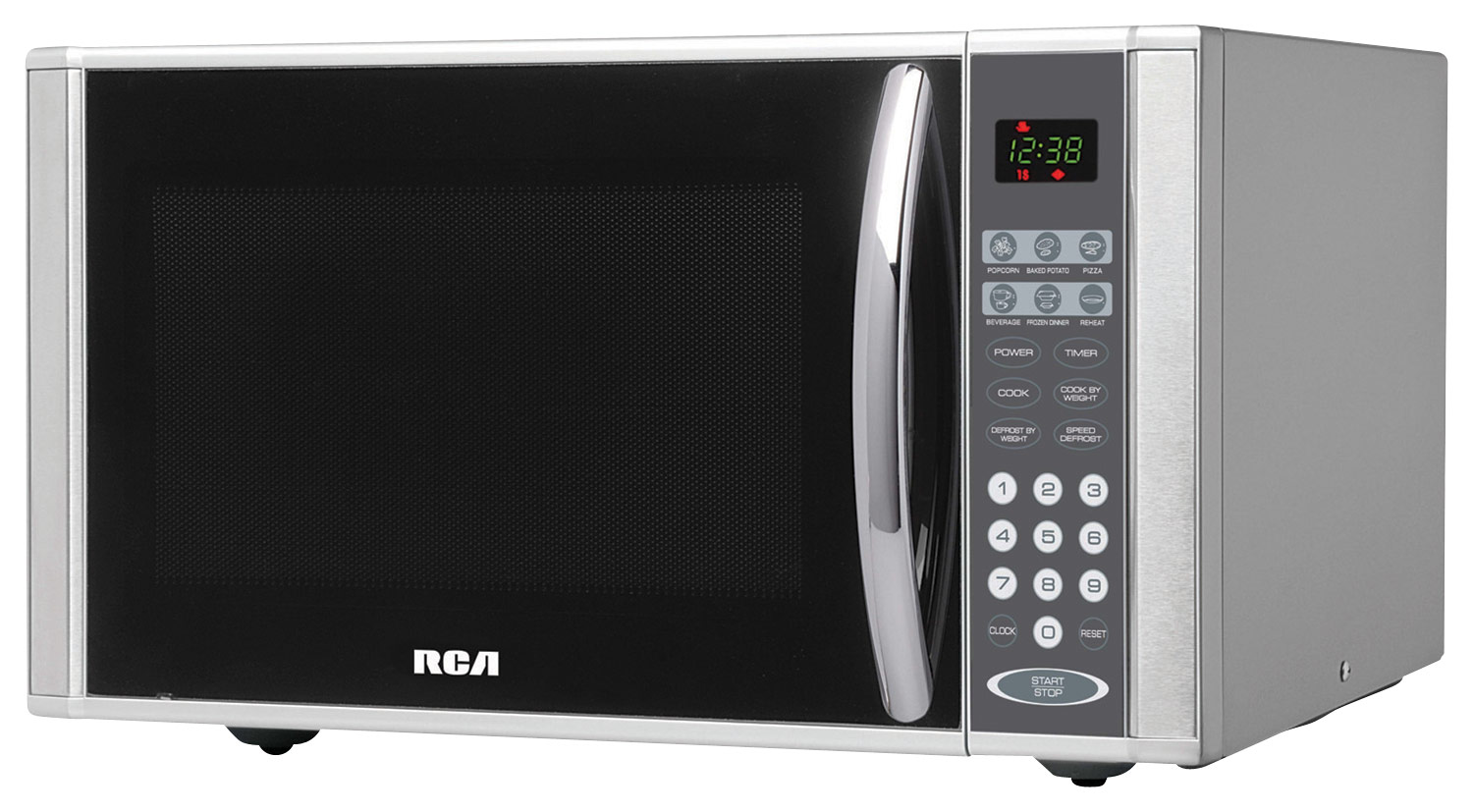 rca 1 1 cu ft mid size microwave stainless steel