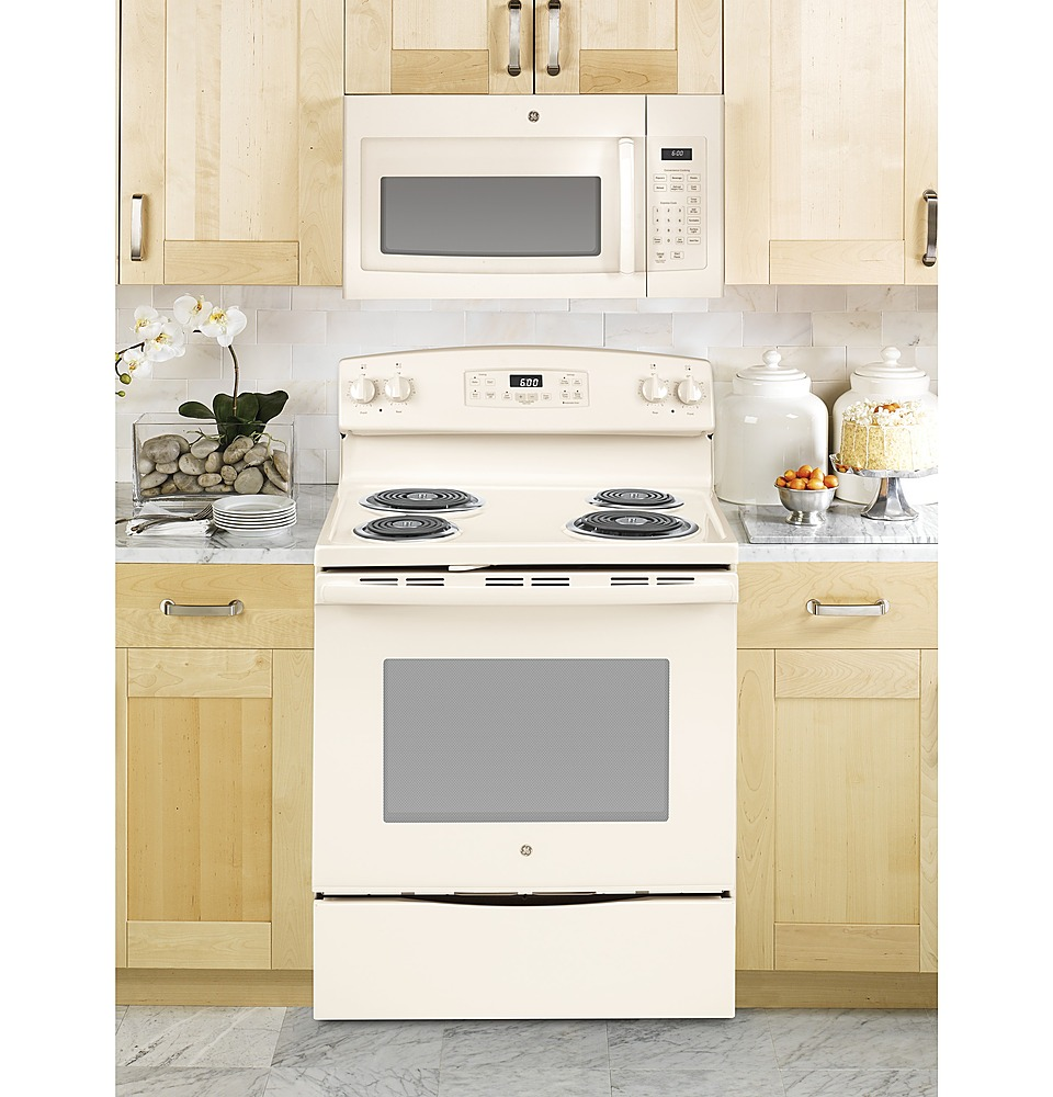 ge 1 6 cu ft over the range microwave bisque