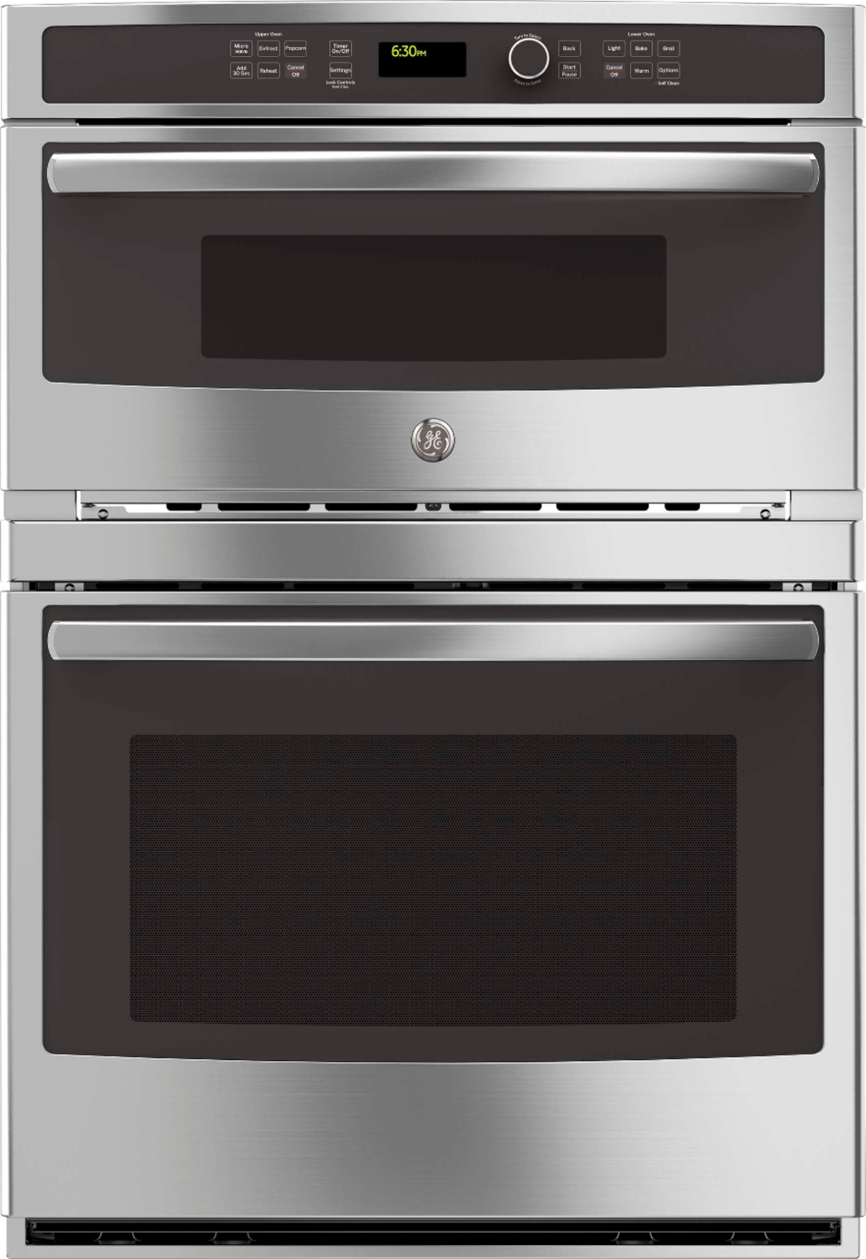 ge 30 single electric wall oven with built in microwave stainless steel