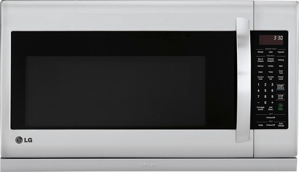 lg 2 2 cu ft over the range microwave stainless steel