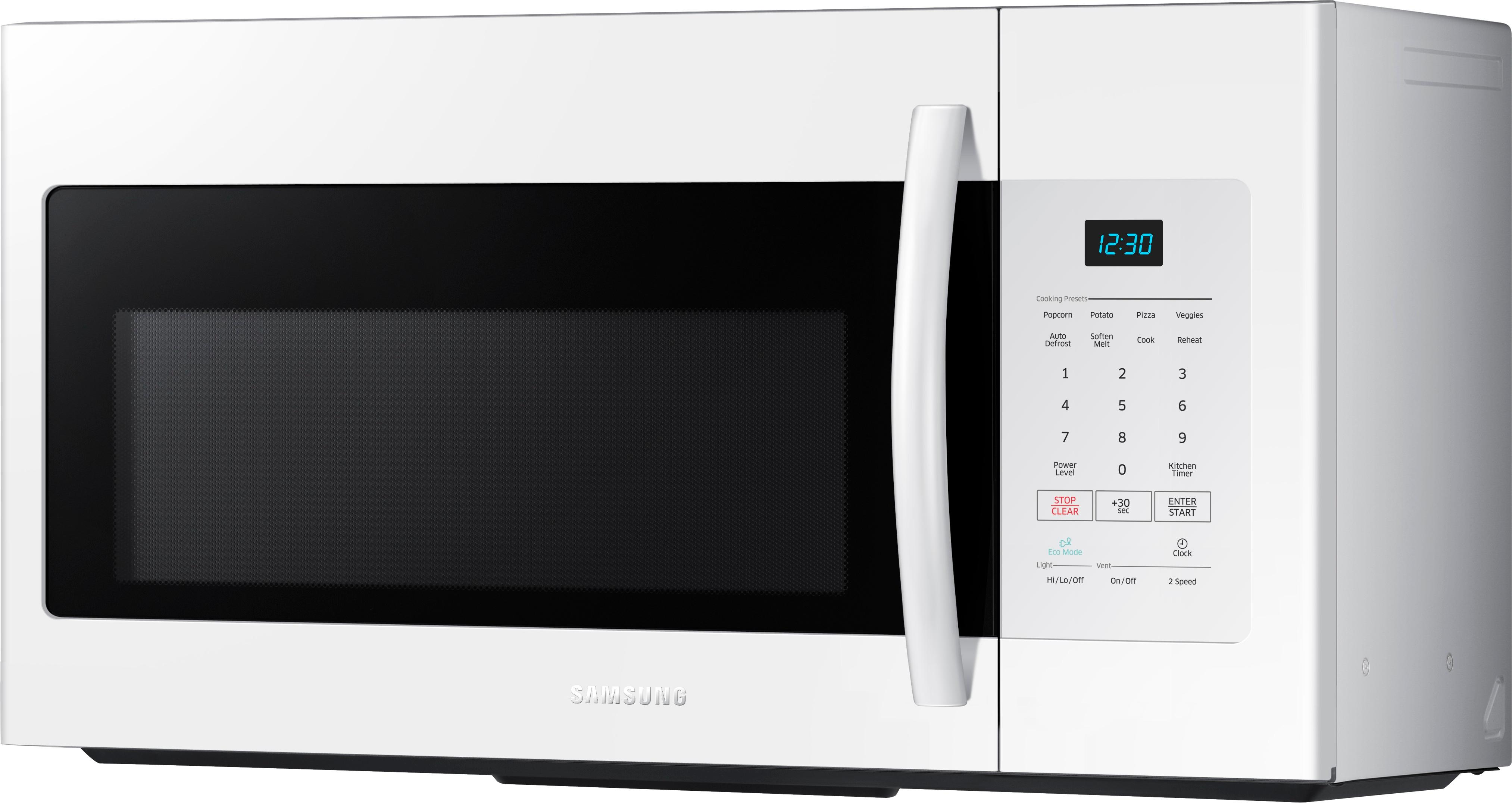 samsung 1 6 cu ft over the range microwave white