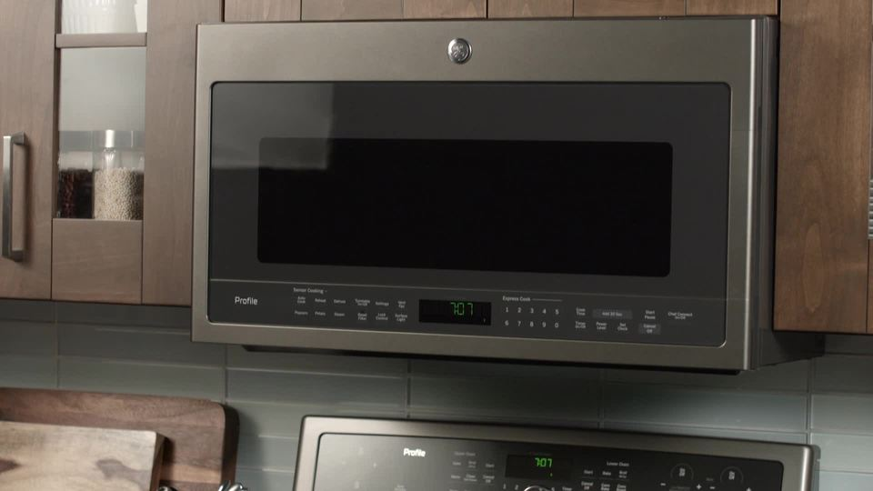 cafe 1 7 cu ft convection over the range microwave with sensor cooking stainless steel
